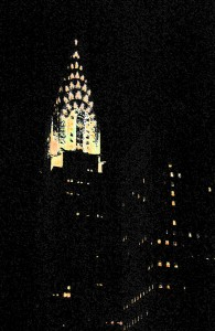 <b>Chrysler Building at night</b>